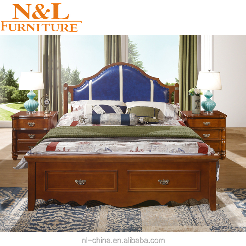 wholesale nonwoven bedroom furniture sheet wood double <strong>bed</strong> designs without box