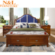 wholesale nonwoven bedroom furniture sheet wood double bed designs without box