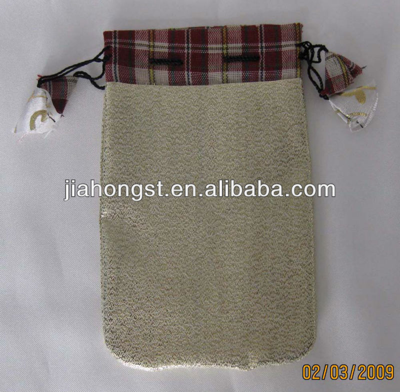 gift pouch with drawstring