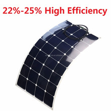 semi flexible solar panel 100W 120W 130W 150W 180W 200W solarpanel flexible supplier