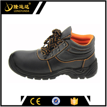 new fashion mid-cut embossed leather brand industrial safety shoes