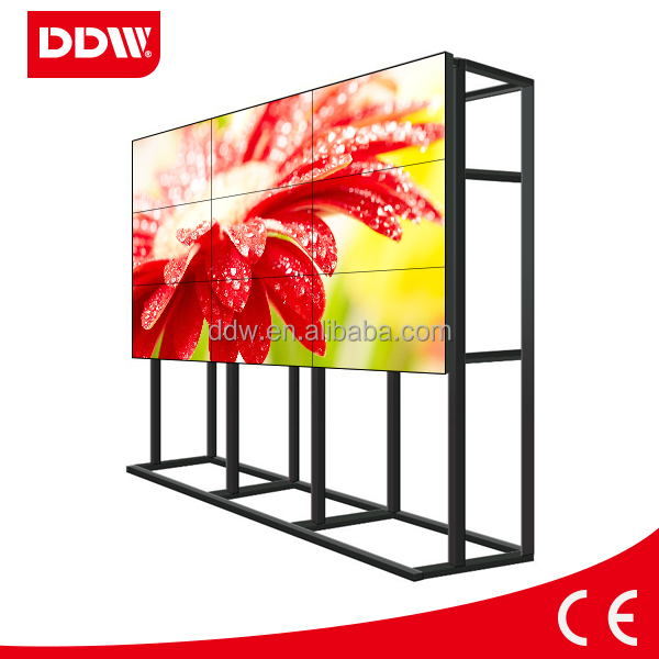 "55"" monitors with smallest bezel LG video wall 3x3"