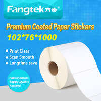 "102mmx76mm(4""x3"") blank self adhesive address labels multiple label sticker roll for barcode print"