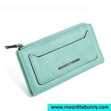 New Arrival Long Section Women Wallets Matte Leather Solid Simple Coin Bag Holding Purse Good Quality Clutch Wristlet Wallets