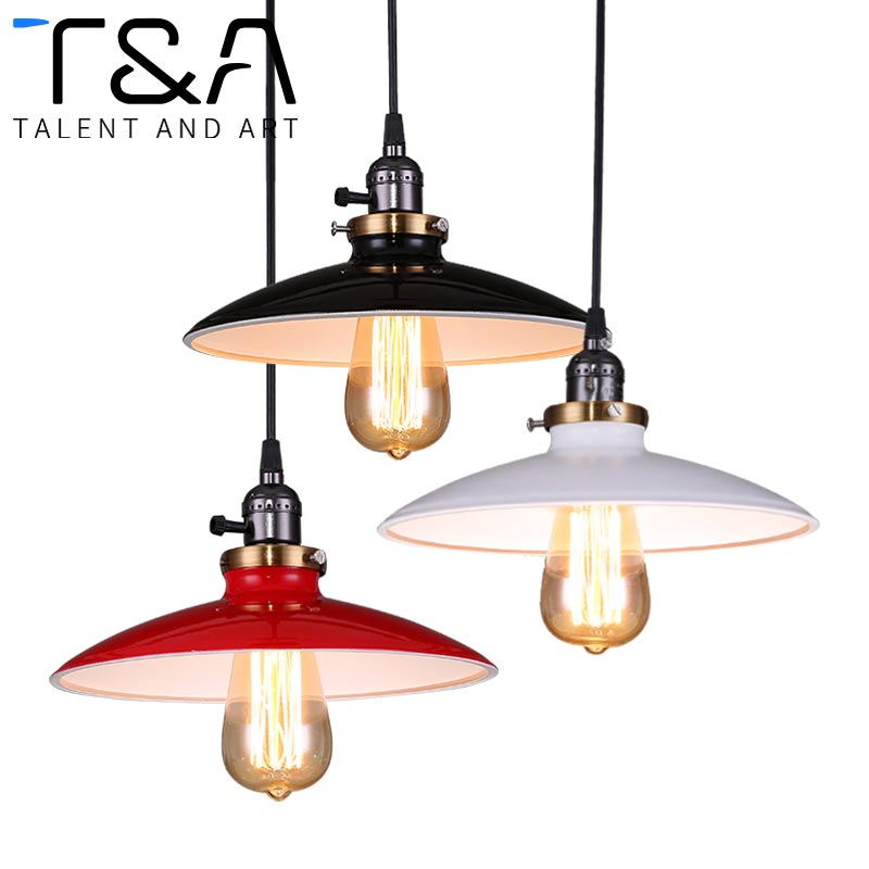 Zhongshan lighting factory black cord Dia 25 cm e27 base metal retro industrial vintage UFO shape hanging pendent light fixtures