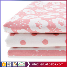 High Quality Twill Woven Pink Japanese Printed Cotton Sakura Fabric