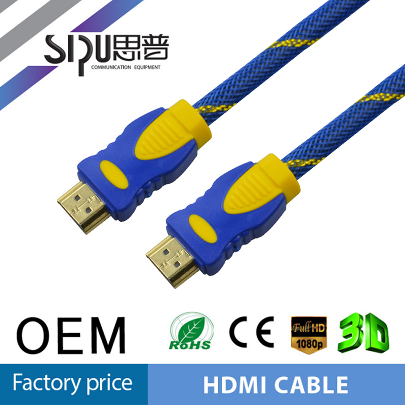 SIPU best price 19+1 copper 4K 1.4b hdmi cable 2.0 for sale high speed 1m hdmi computer cable