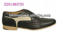 men black and white wingtip oxfords leather Dress Shoes