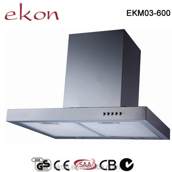 CE CB SAA GS Approved 60cm Stainless Steel Chimney Made in China Range Hood