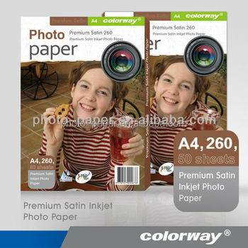 Waterproof Microporous Premium Inkjet RC Satin Photo Paper 260gsm A4 A3 24""
