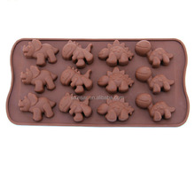 silicone dinosour animal funny shape chocolate mould, silicone mold for cake microwave bakery