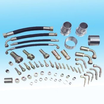 Hydraulic rubber pipe and fittings