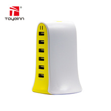 6 Port USB Charger 6 USB Charging Dock Station Quick Charger Smart Phone Charger