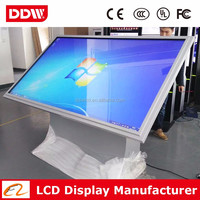 "Factory wholesale 42"" 1080P LED backlit floor standing touch screen used touch screen kiosk small touch screen monitor"