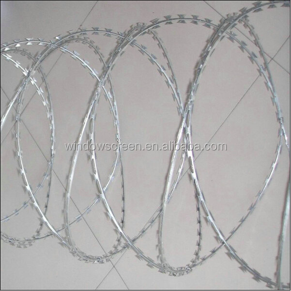 ss concertina razor wire -Bto22 BTO 22 razor blade wire 12m covered length