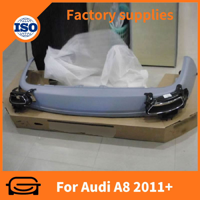 Car accessories rear bumper lip For Audi A8 2011+