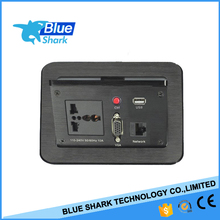 Electric Table hidden desktop power socket outlet with vga