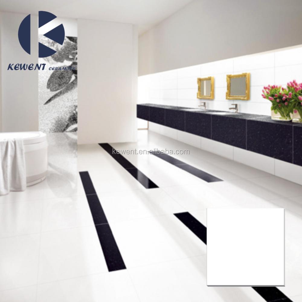 White porcelain floor tiles 60x60