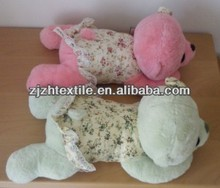 two piece cute mini manufacture plush Dogs with printing clothers