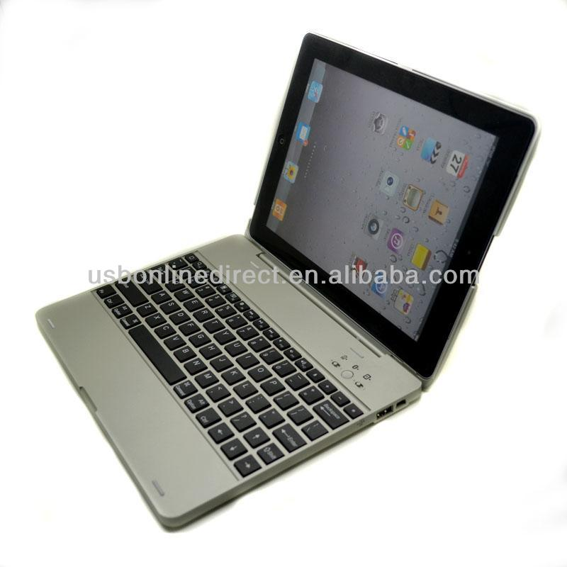 Portable rotating keyboard bluetooth case cover for ipad 3 2 4 blue tooth keyboard case