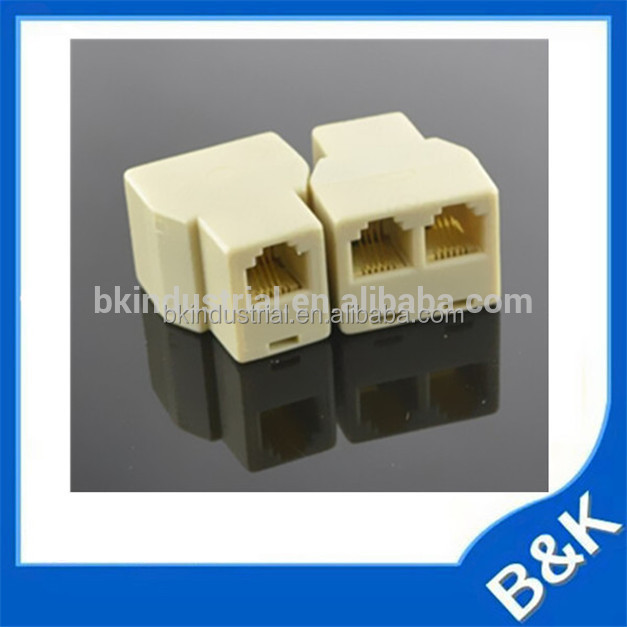 Afghanistan RJ11 Telphone Adapter Cable Plug ABS MOQ500pcs Surface Box with Ferrites