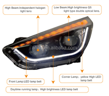 High quality and good performance LED car HID auto head lamp used for Hyundai IX35 2011-2015