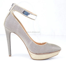 Newest high slim heel platform shoes wholesale almond toe cheap price shoes