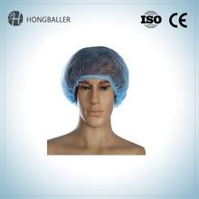 Food Industrial Disposable Nonwoven Pp Fabric Caps Cap / Clip Cap/Hair Net