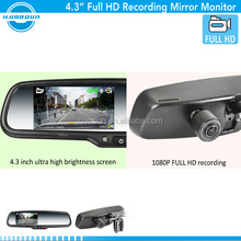 4.3 inch automobile car back seat lcd monitor1080p dvr rearview mirror with rear seat entertainment for ford focus 2