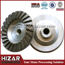 New formulations stone tools turbo diamond cup grinding wheel for concrete
