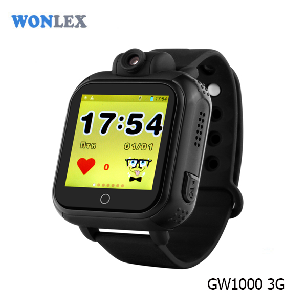 Remote Monitoring 3G Children Security Phone SOS call kids mechanical watch with gps tracker
