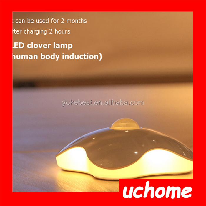 UCHOME Lighting Night light Four Leaf Clover lamps Motion Sensor NightLight PIR Intelligent LED Human Body Motion Induction Lamp