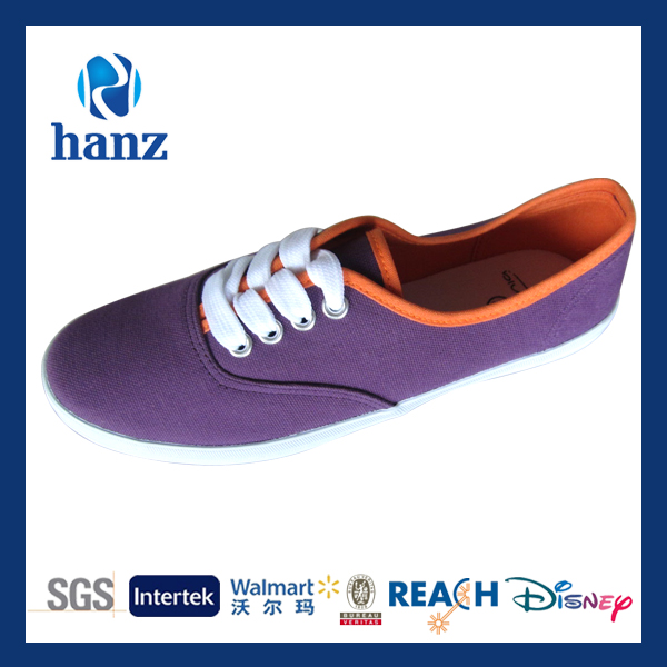 women purple fashion hot selling 2014 new style canvas shoes
