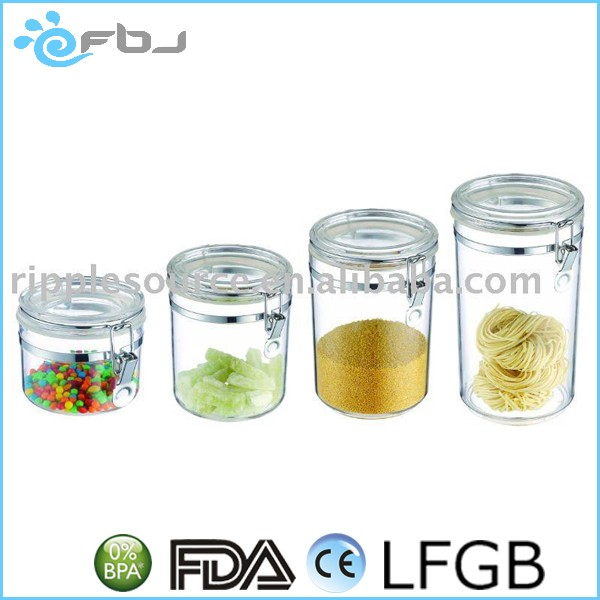 ~ Airtight clear crystal jars with metal lock