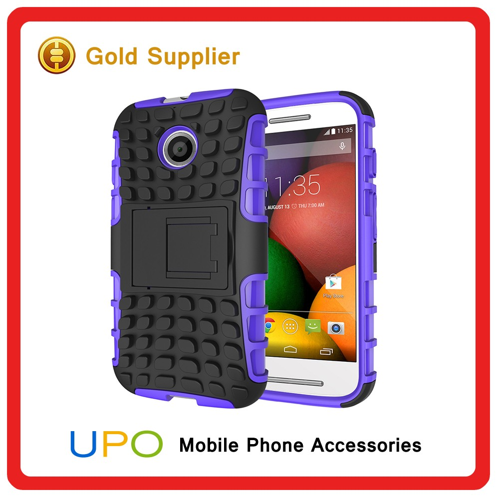 [UPO] Wholesale Heavy Duty ShockProof Kickstand Cell Phone Case for Motorola Moto E, Cover for Moto E
