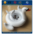 Inflatable white swan baby float seat