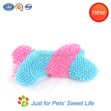 High Quality Plush Cute Cotton Rope Squeaky Bone Shape Dog Toy