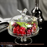 Sanzo Custom Glassware Manufacturer cake stand glass cup votive candle holder