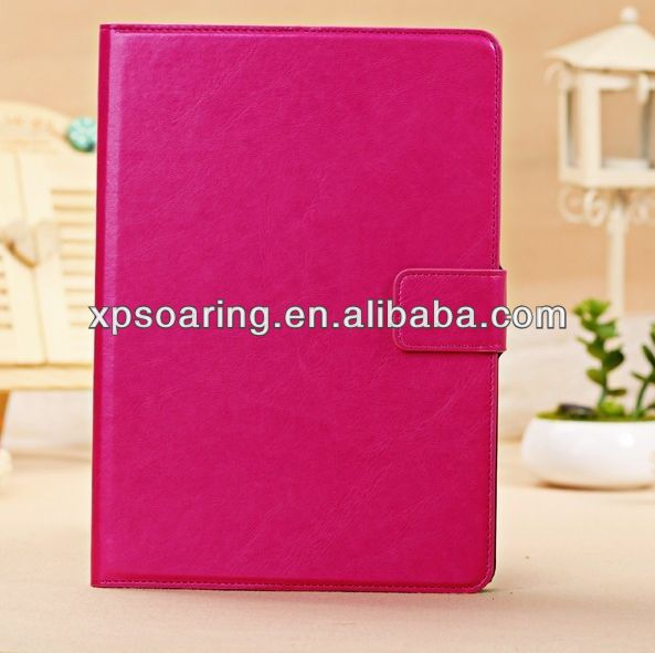 Wholesale factory price leather case for ipad 5, stand leather pouch for ipad air