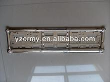 European license plate frames