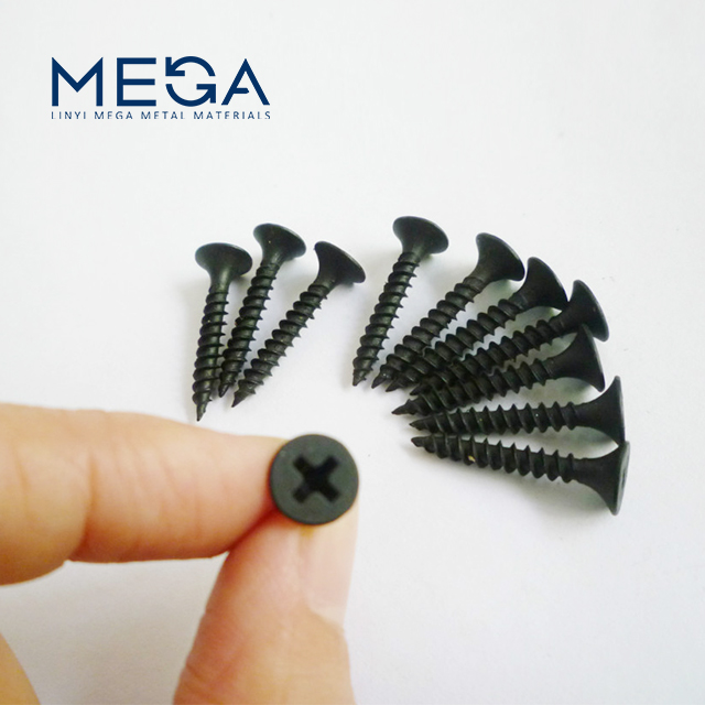 factory supplying carbon steel C1022 black phosphated drywall gypsum screw for gypsum board
