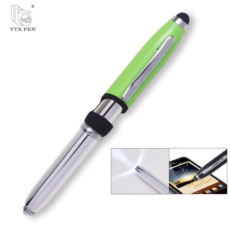 High quality 4 in 1 multifunction led light ballpoint pen with laser pointer