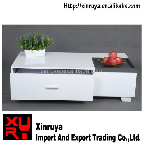 High Glossy MDF TV stand With Drawer