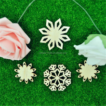 3D Assembled Snowflake Wood Shape Wood Craft for Christmas