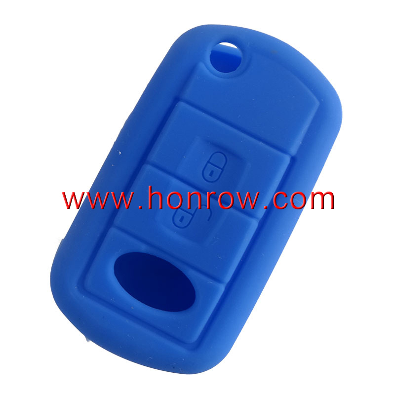 For 2 button Silicone key case (black,blue ,red color)