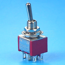 Toggle switch, MTS-202 ON-ON 6pin DPDT mini toggle switch~