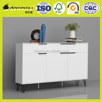 home furniture living room white wooden toy cabinet with metal feet