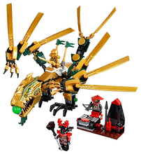 9793 Building Blocks Ladrillos Minifigures Bela Ninjago El Golden Dragon Dinosaurio Juguetes Educativos DIY Modelo Figura de Acción
