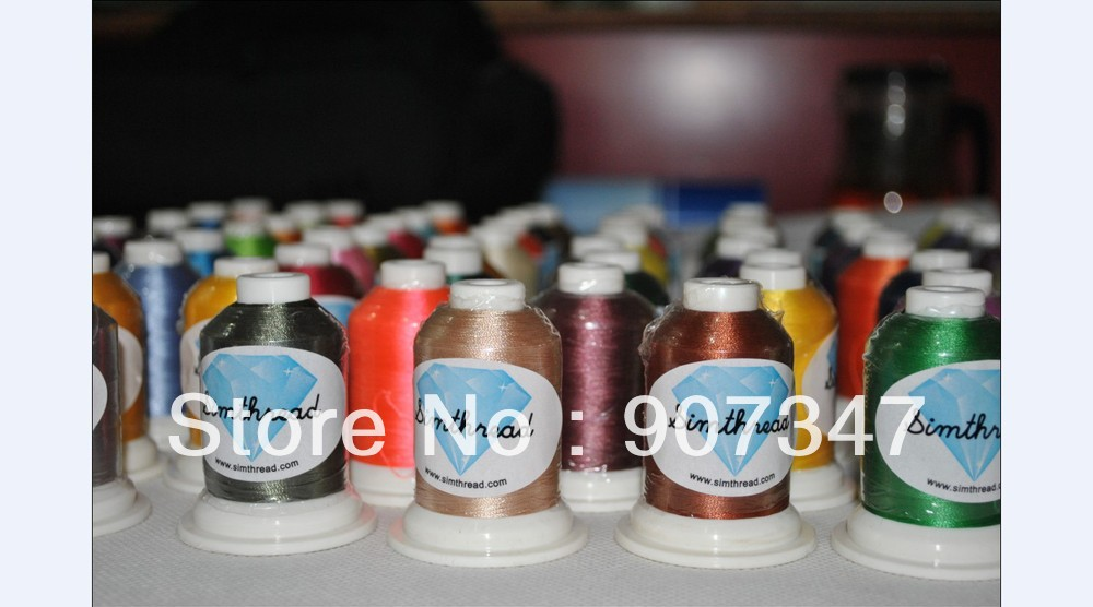 112 Simthread color list home machine 40WT mini king polyester embroidery thread 112 colors/box for all kinds of home machine