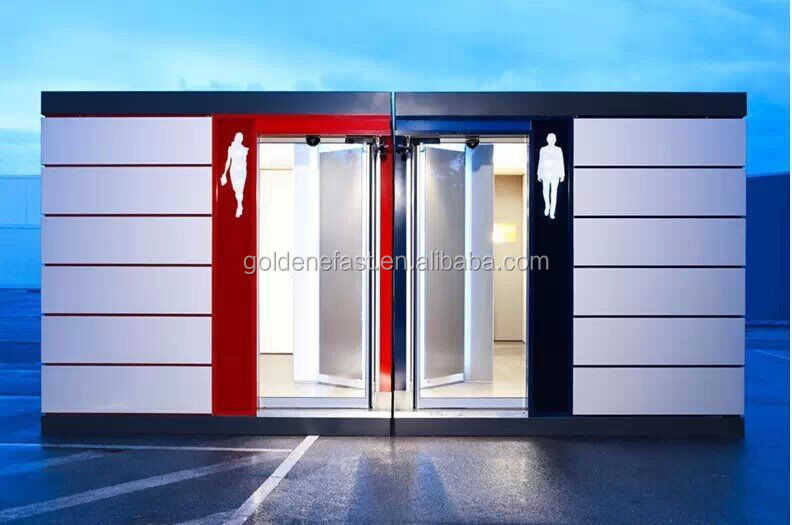 List manufacturers of shipping container toilet with for Shipping container public bathroom